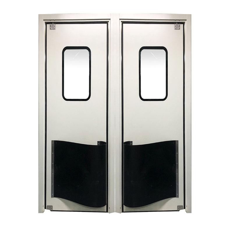 304不锈钢防撞自由门双向平开食品冷库车间工厂自由门闭合防撞门