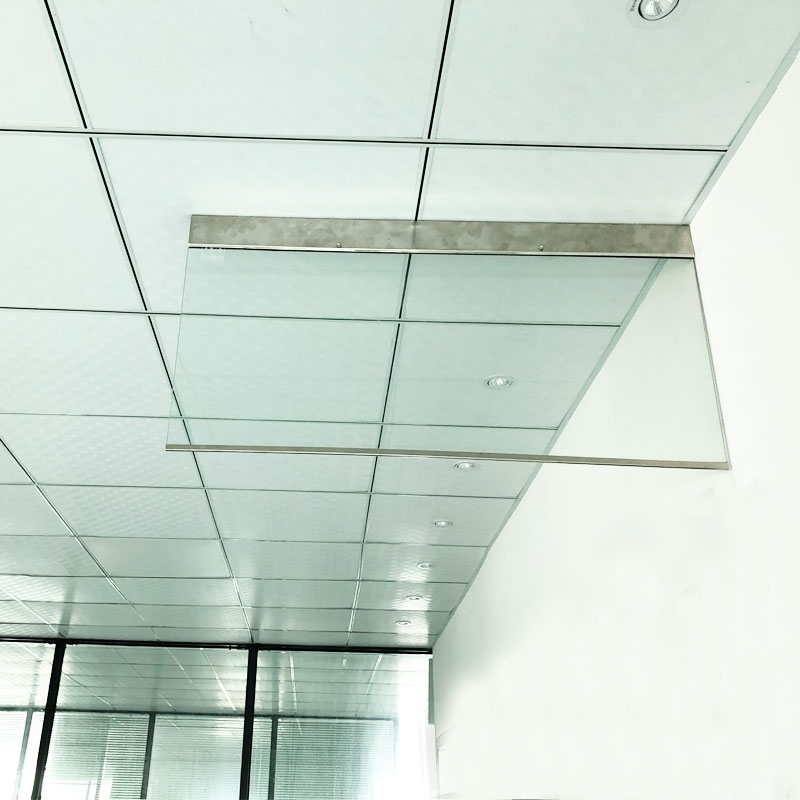 固定刚性挡烟垂壁固定式刚性挡烟垂壁 防火夹丝玻璃挡烟垂壁 消防定制专用挡烟垂壁